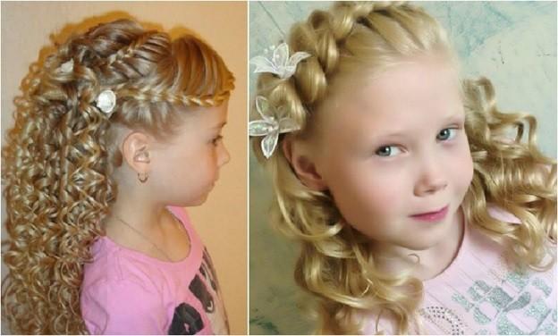 Прически на выпускной на средние волосы детям фото