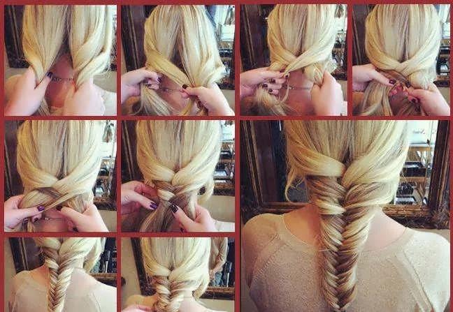 Рыбий хвост прическа для длинных волос