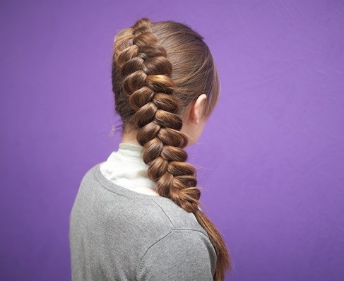Прическа «Объемная французская коса»
