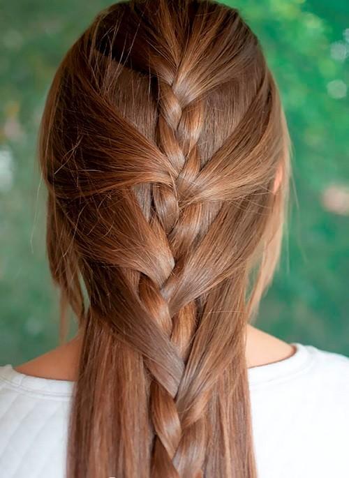 Полу французская коса