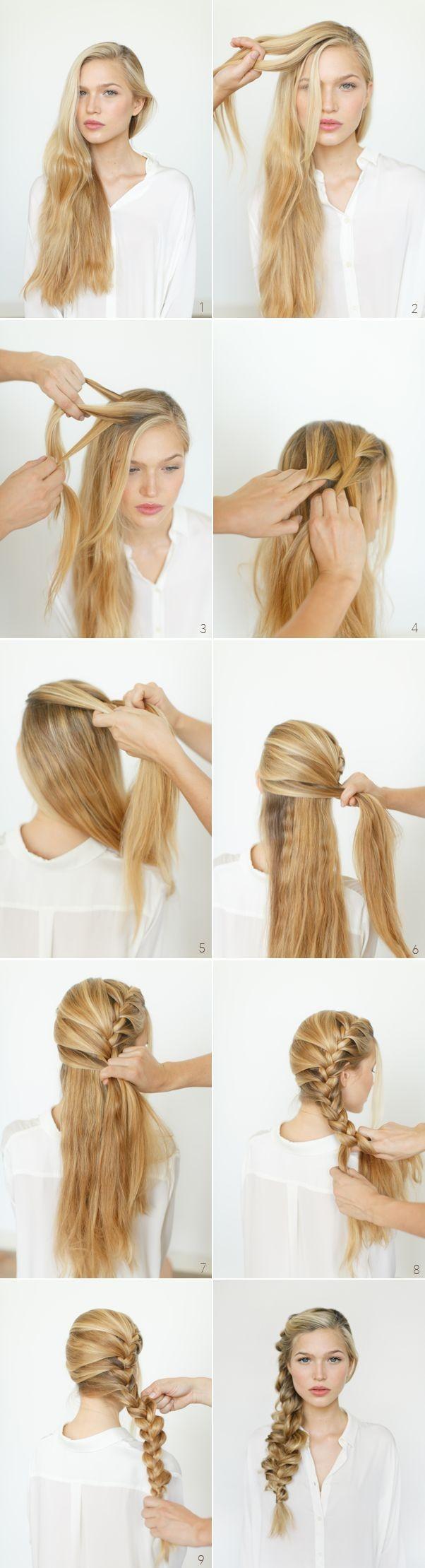 Боковая коса - вечерняя прическа с косой, инструкция выполнения пошагово