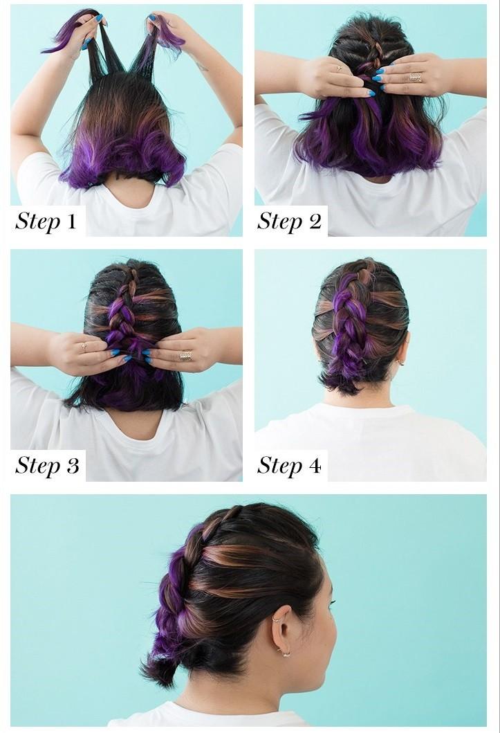 Голландская коса - вечерняя прическа с косами, пошаговая инструкция