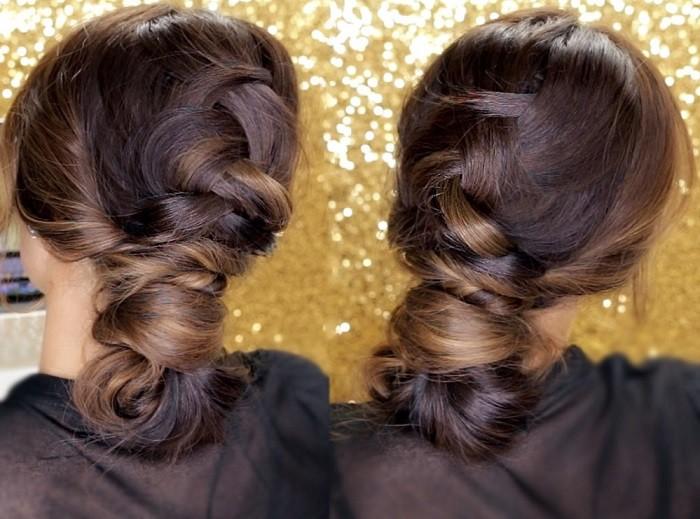 Голландская коса шиньон - красивая вечерняя прическа с косой