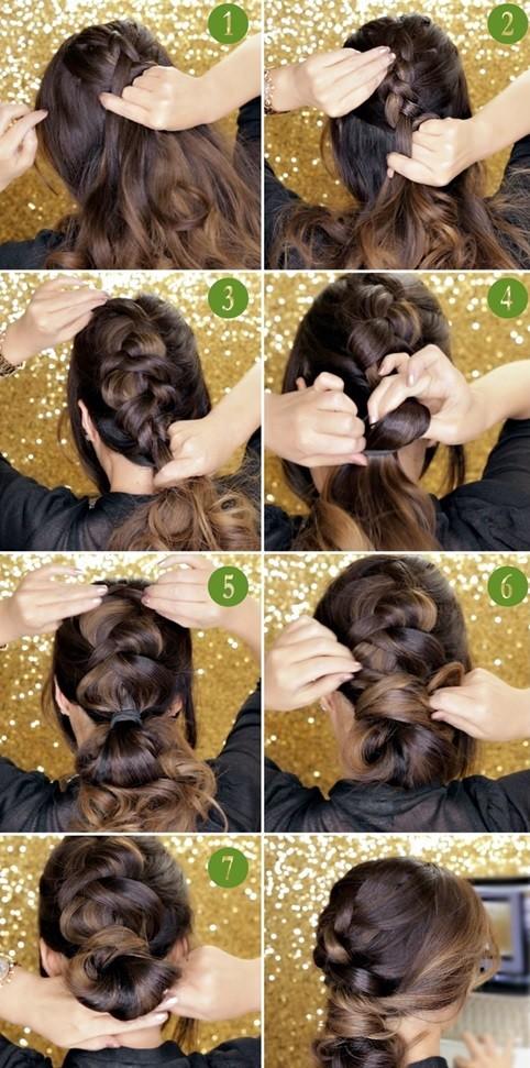 Голландская коса шиньон и пошагово инструкция выполнения