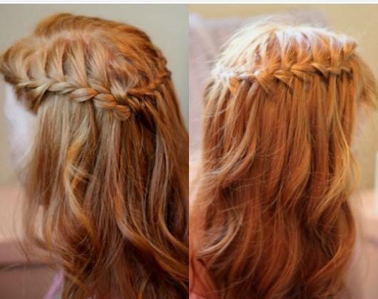Коса типа «водопад»