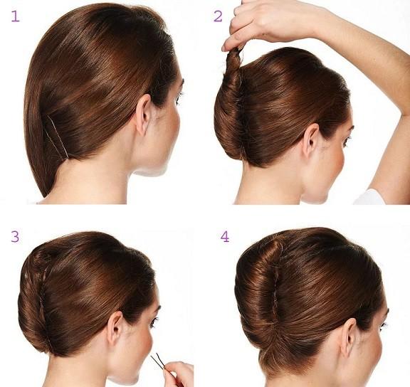 Вечерние прически на длинные волосы с челкой