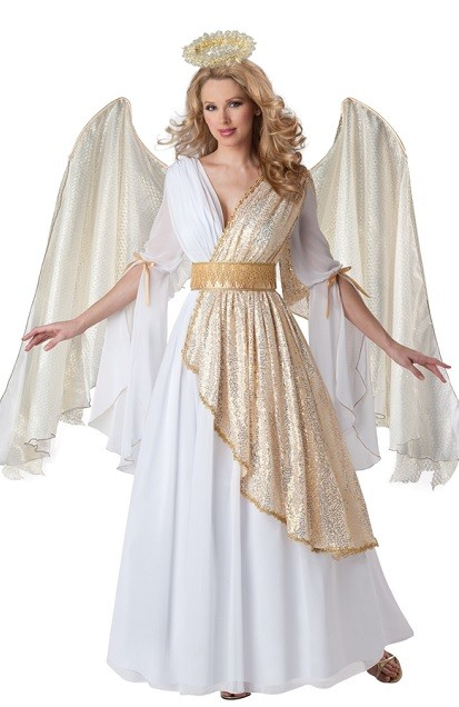 Образ белого ангела на хэллоуин
