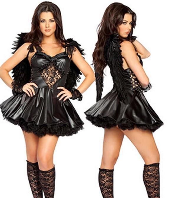 Образ черного ангела на хэллоуин