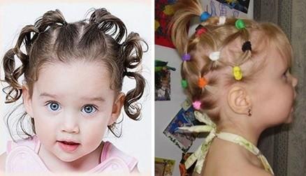 """Прически """"хвостики"""" для девочек в садик и школу на Новый год"""