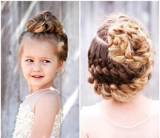 Прически для девочек на Новый год с плетением кос
