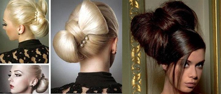 Бант из волос - оригинальная прическа на Новый год на длинные волосы