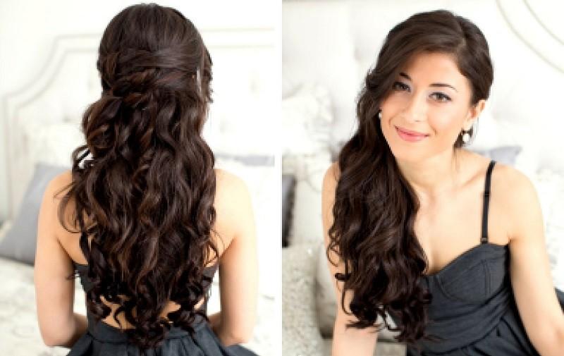 Красивые причёски на Новый год на длинные волосы