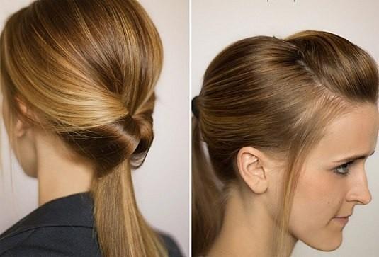 Прическа на Новый год на длинные волосы - праздничный хвост