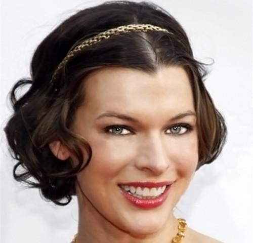 Новогодняя прическа на короткие волосы «Греческая богиня»