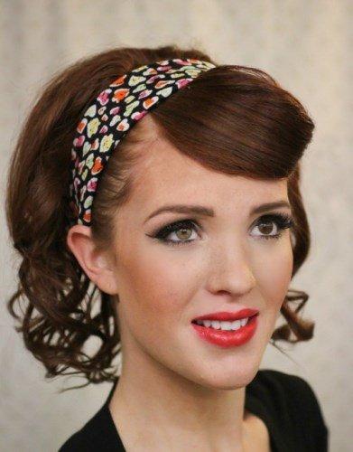 Ретро-укладка - новогодняя прическа для коротких волос