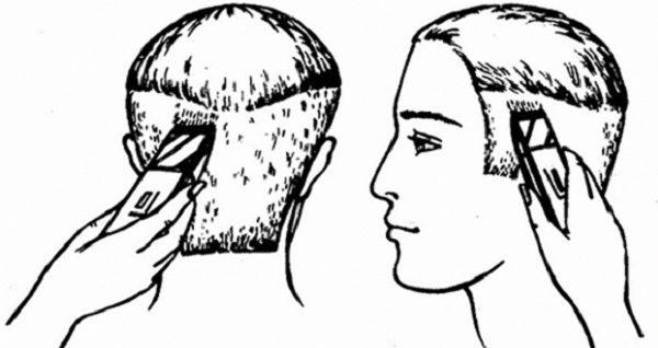 Для стрижки бокс машинкой или бритвой необходимо сделать окантовку волос по всей голове