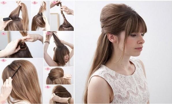 Как сделать прическу бабетта с распущенными волосами: пошаговая инструкция