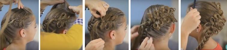 Французская коса с бантиками: пошаговая инструкция 3
