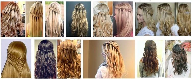 Французская коса – водопад