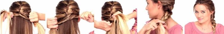 Французская коса - схема плетения 2
