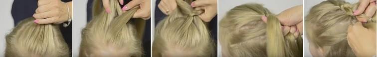 Как плести голландскую косу: схема плетения 1