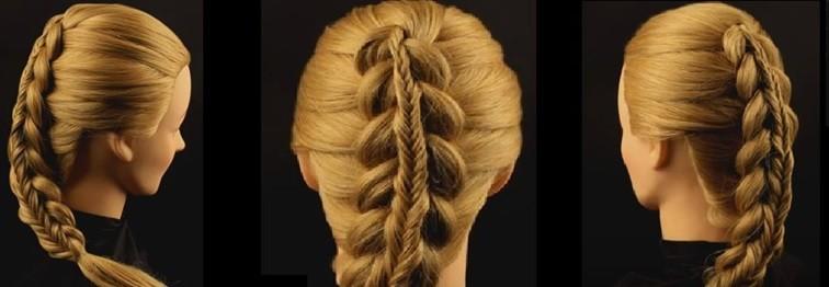 Двойная коса с «рыбьим хвостиком»