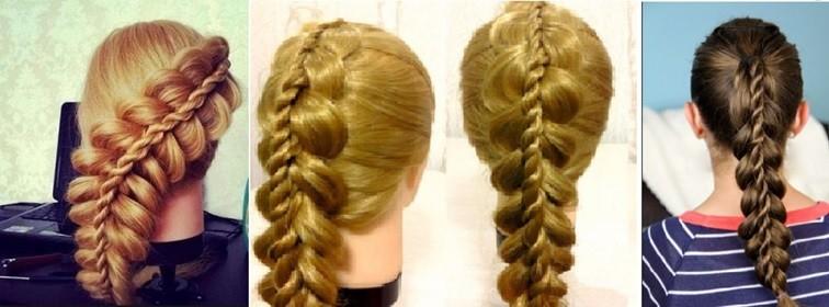 Двойная коса со жгутом