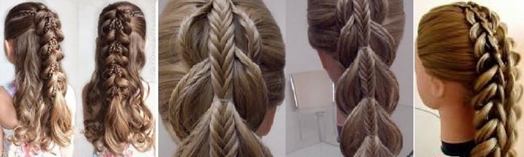 Коса на косе с резиночками