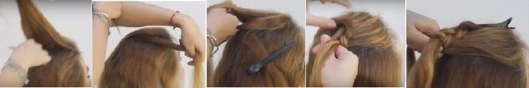Коса на косе (двойная коса): как плести, схема плетения 1 часть