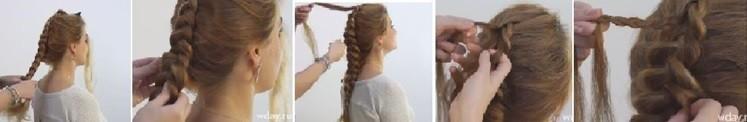 Коса на косе (двойная коса): как плести, схема плетения 2 часть