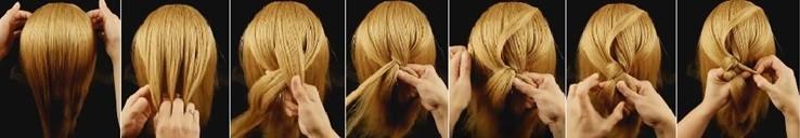 Двойная коса с «рыбьим хвостиком» поэтапно часть 1