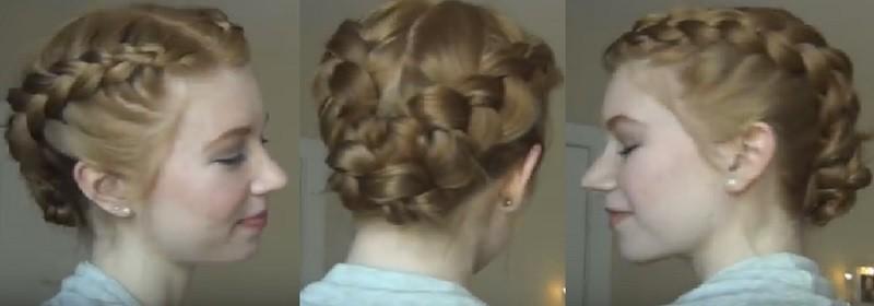 Красивая укладка из двух параллельных голландских кос