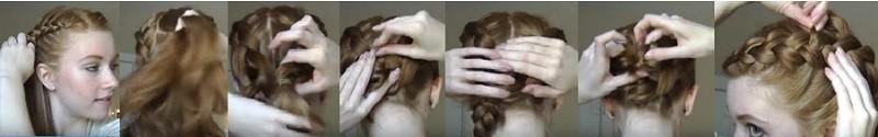 Укладка из двух параллельных голландских кос поэтапно 2