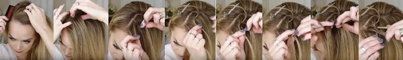 Очаровательный узор из кос пошагово 1