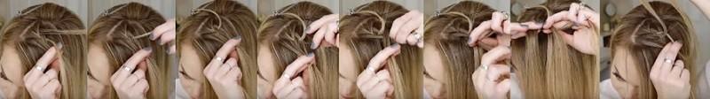 Очаровательный узор из кос пошагово 2