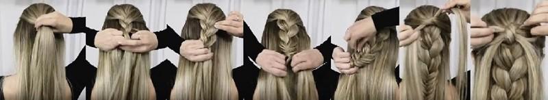 Изысканное сочетание косы, колоска и бантика из волос: этапы выполнения