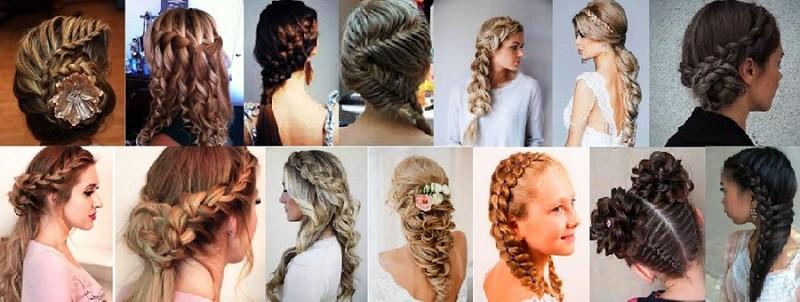 Красивые прически с косами на длинные волосы