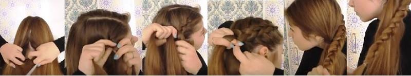 Плетёный узел из голландских кос: этапы выполнения 1