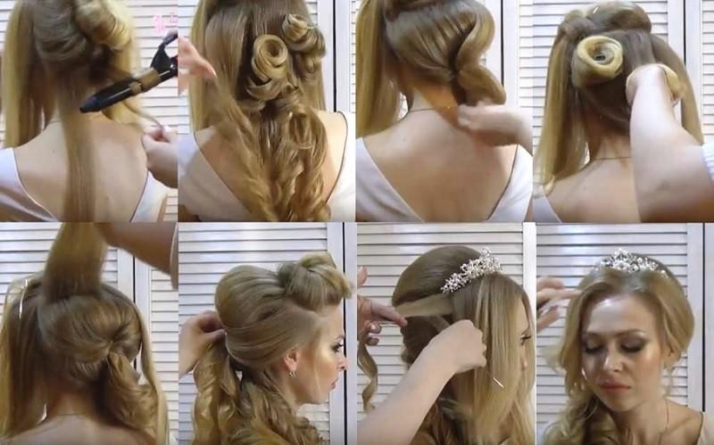 Греческая коса набок, этапы выполнения