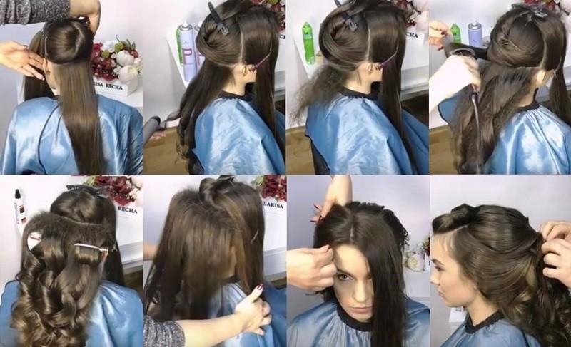 Греческая коса из локонов, выполнение пошагово