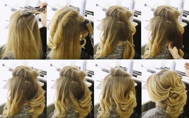 Воздушная греческая коса, фото выполнения пошагово