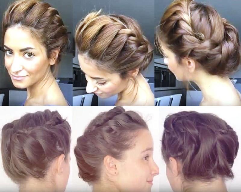 Кручёная греческая коса