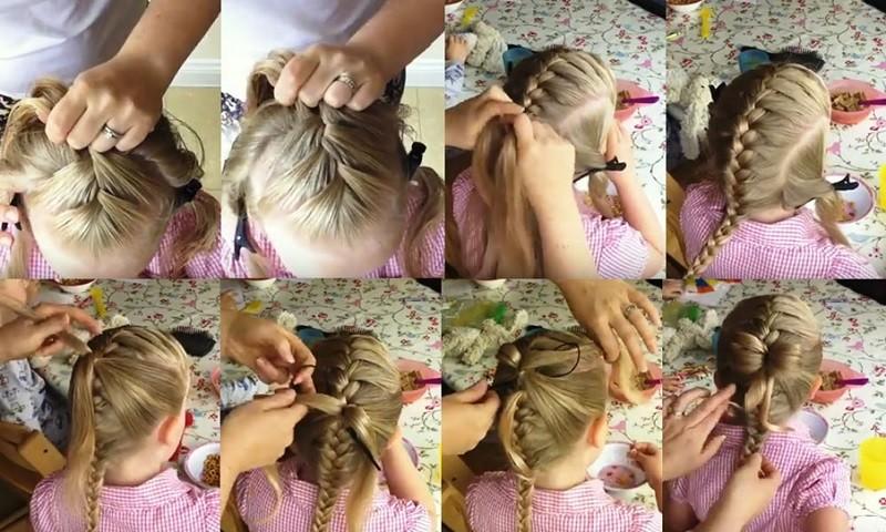 Французская коса с бабочкой из волос с пошаговым объяснением
