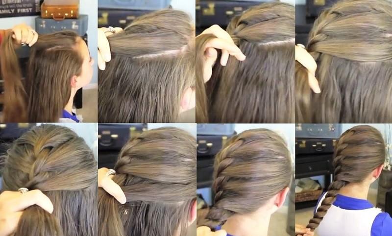 Французская коса «Твист», фото пошагового исполнения