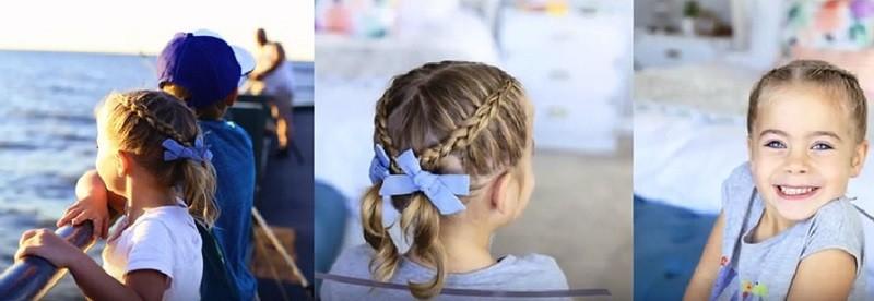 Милые косички и хвостики на коротких волосах