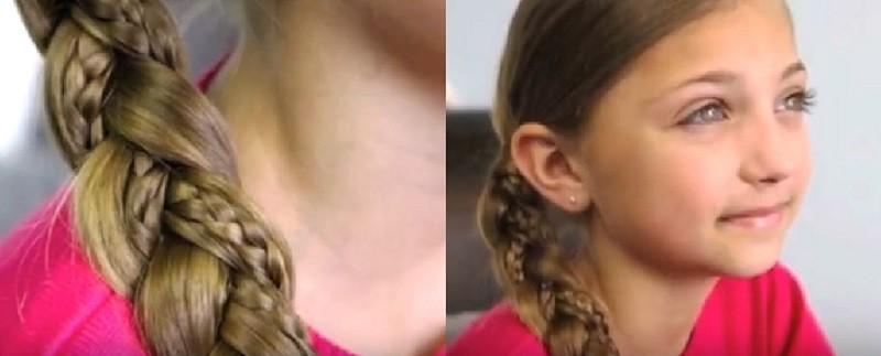Красивая фигурная косичка для девочки