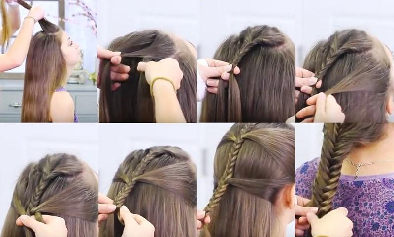 Причёска «Русалочка», с фото поэтапного выполнения
