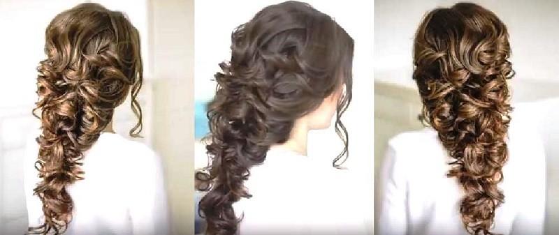 Объёмная коса в греческом стиле