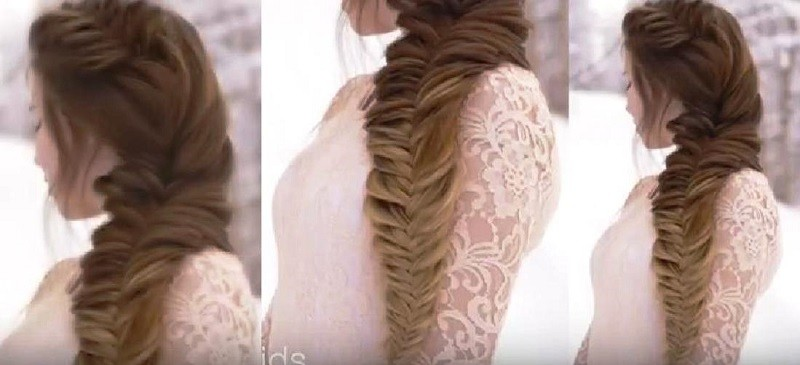 Королевский «рыбий хвост» - объемная коса