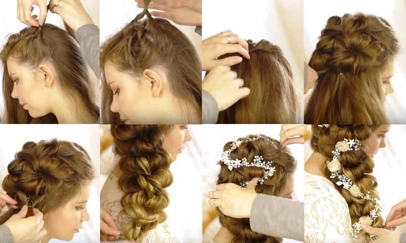 Шикарная объёмная коса набок, пошаговое выполнение